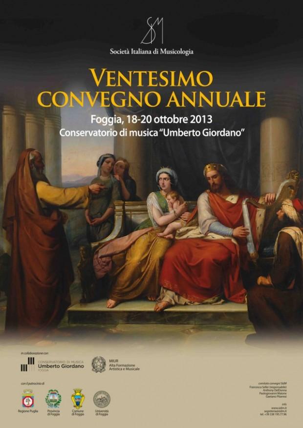 Società Italiana di Musicologia – XX Convegno Annuale