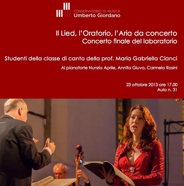 Il Lied, l'Oratorio, l'Aria da concerto