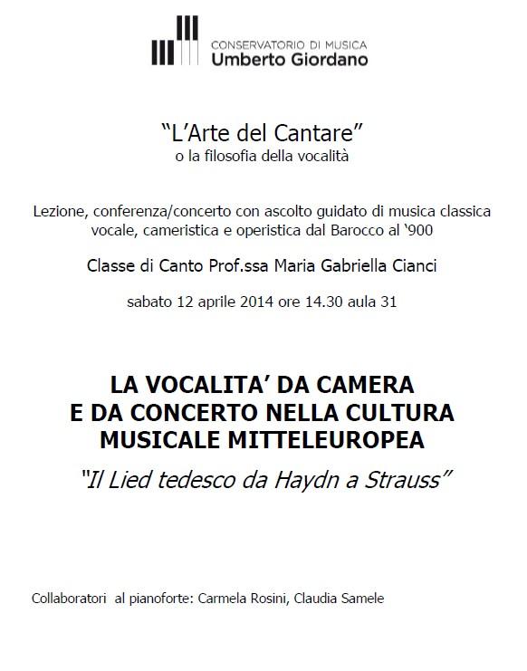 Il Lied tedesco da Haydn a Strauss