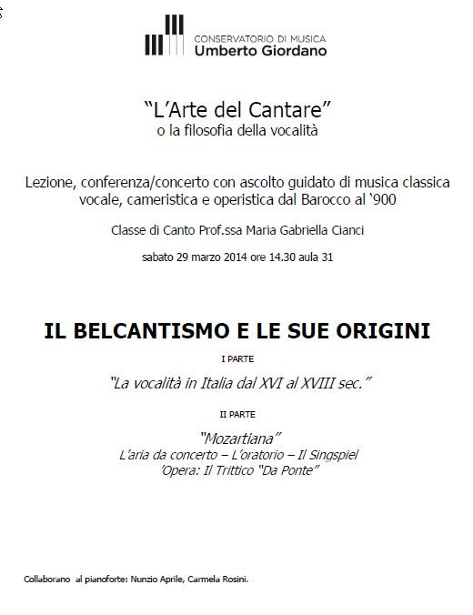 Il belcantismo e le sue origini