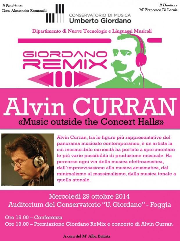 Giordano ReMix: Conferenza, premiazione e concerto