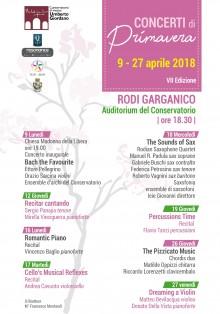Concerti primavera 2018