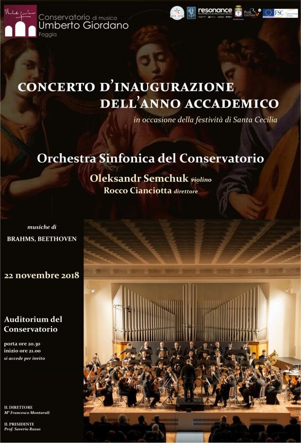 Concerto Inaugurazione Anno Accademico 2018/19