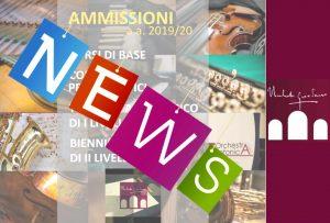 NEWS AMMISSIONI